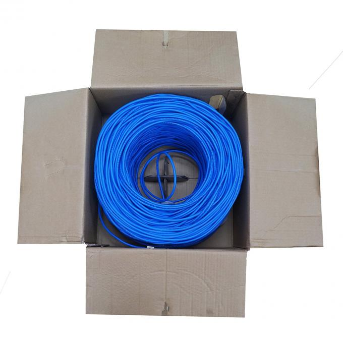 Copper networking Cable Cat.5e UTP Cable soild copper conductor,23 AWG 4 pair Ethernet Lan cable