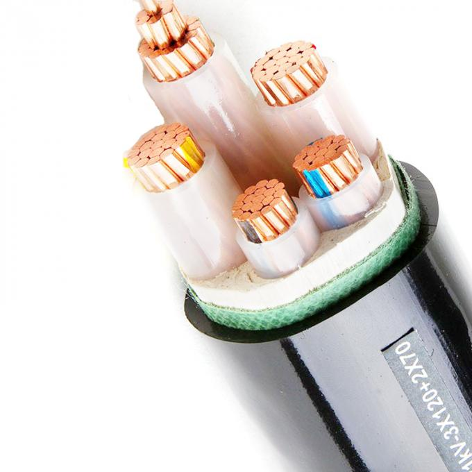 Low Voltage Power Cable 0.6/1 kV 3+2 Core XLPE Insulated, PVC Sheathed, Unarmoured & Armoured to IEC 60502
