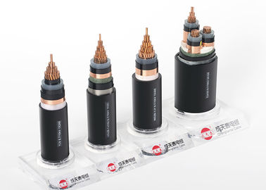 XLPE Insulated MV Power Cable , Single Core screened Cable 3.6/ 6 KV To 26/ 35 KV