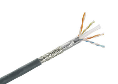 China Cat5e SFTP Cable, Solid Bare Copper Shielded Twisted Pair Ethernet Lan Cable 1000 Ft factory