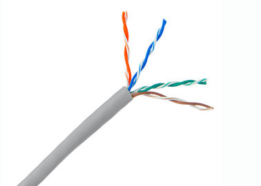 China Copper networking Cable Cat.5e UTP Cable soild copper conductor,23 AWG 4 pair Ethernet Lan cable supplier