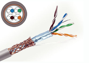 China Cat5e Copper Lan Cable , Ethernet Lan Cable 4 Pair SFTP Cable 1000 FT supplier