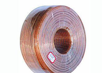 China Copper Litz Wire Loudspeaker Cable , Transparent Sheath PVC Insulated Cables factory