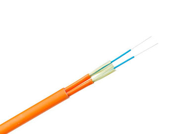 GJFJV Fiber Optic Indoor Cable Tight Buffer Duplex Flat Cord 5 KN/M Crush Resistance