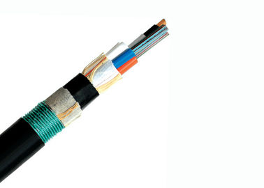 Double Jacket Single Mode Armored Fiber Cable , GYTY53 Fiber Optic Network Cable