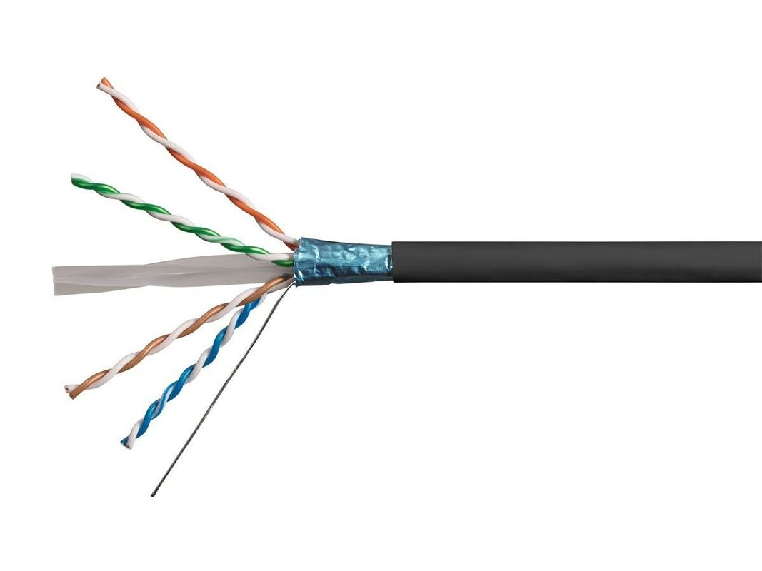 Copper Conductor Shielded Networking cable , Cat 6 FTP Cable 1000 ft (305m) / roll supplier