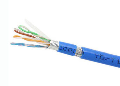23 AWG Conductor Copper Lan Cable Cat6 SFTP Cable UL Listed Flame Resistance