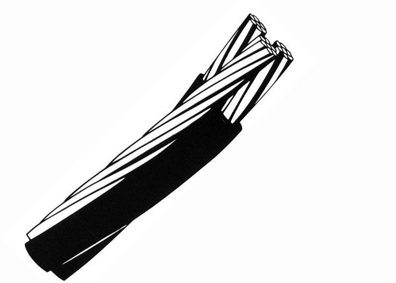 low voltage aerial bundled cable triplex service drop cable xlpe    pvc insulation