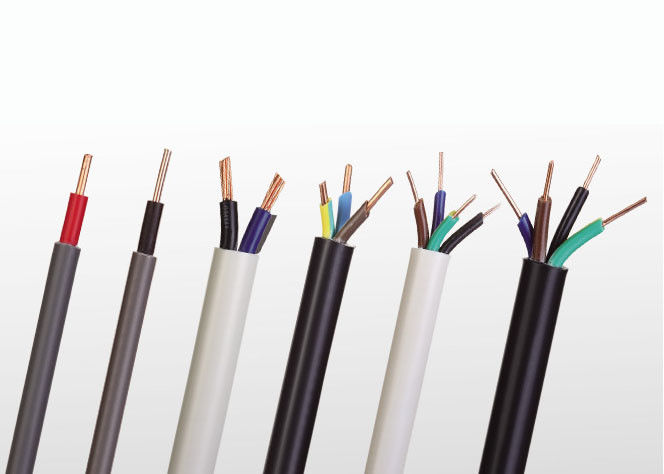 4 core Light PVC sheathed cables for fixed wiring (300/500 Volts) TYPE 227 IEC 10