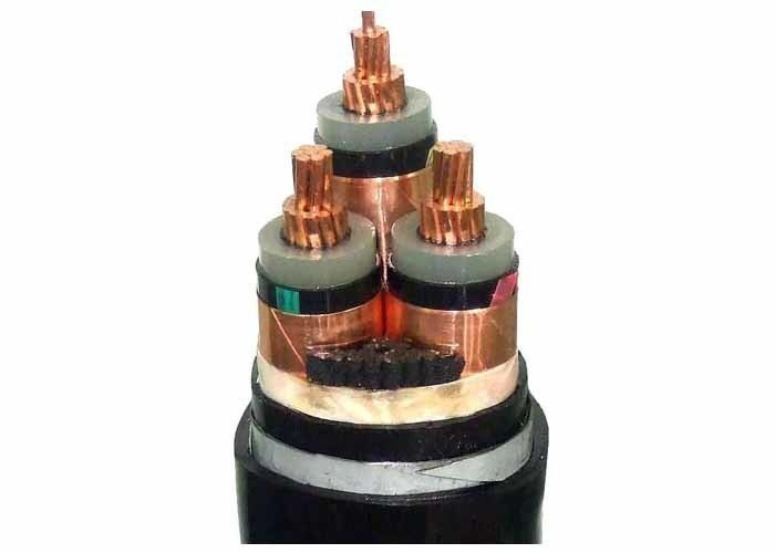 3 Core LSHF Cable , 6/ 10 KV XLPE Insulated Copper Wire Armoured Cable supplier
