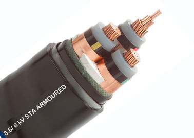 Three Core Armoured Cable , XLPE Armoured Cable Bare Copper Class 2 Conductor